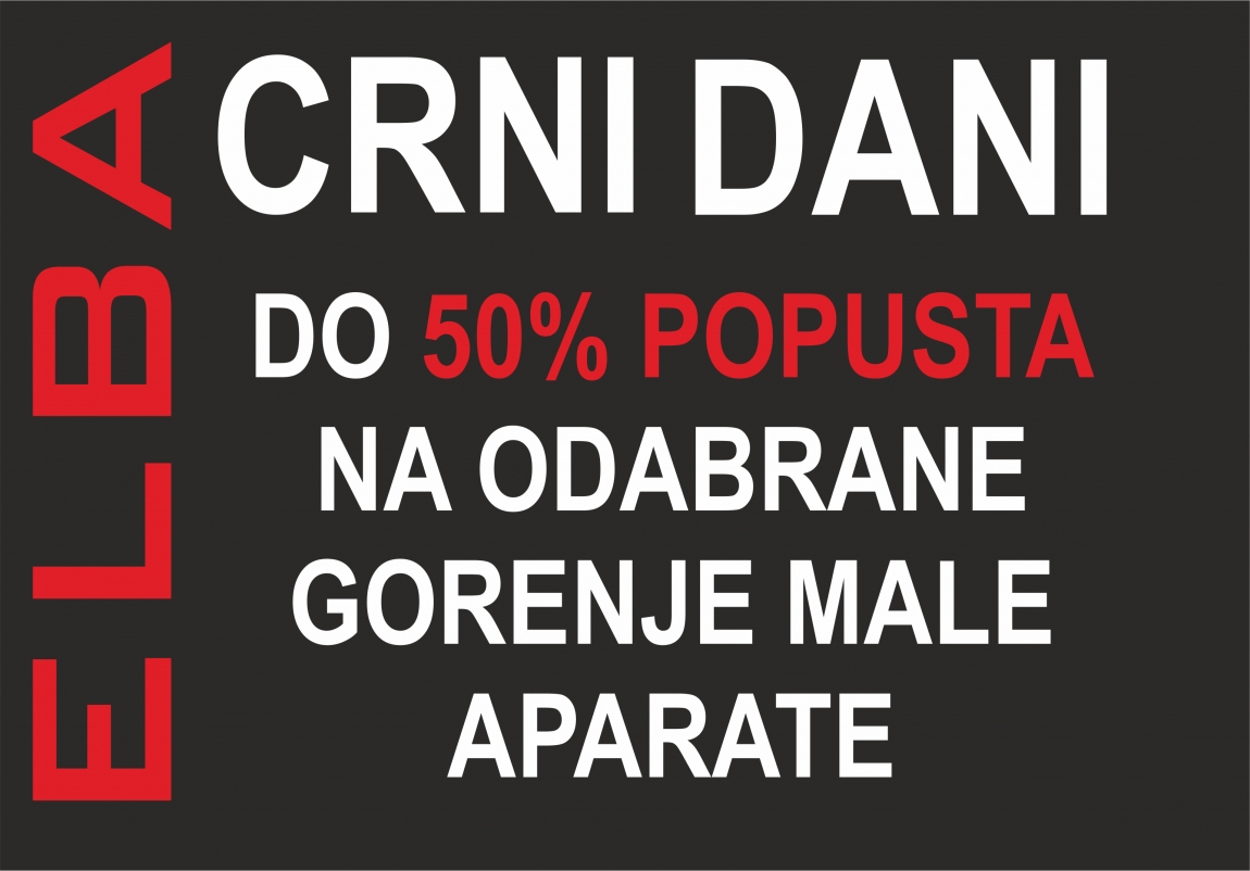 Do 50% popusta na male Gorenje aparate